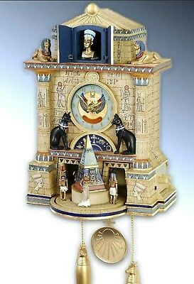 ☆ EGYPTIAN QUEEN NEFETITI CUCKOO CLOCK ☆ BRAND NEW UNOPENED (Read Description) ☆