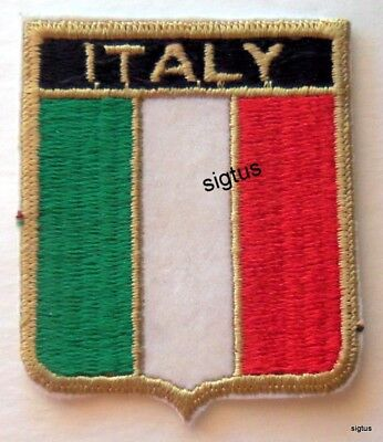 Souvenir Iron-On Patch ITALY Embroidered NEW Never Used - Version 1 of 2
