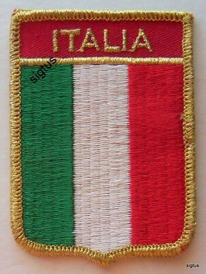 Souvenir Sew-On Patch ITALIA / ITALY Embroidered NEW Never Used - Version 2 of 2