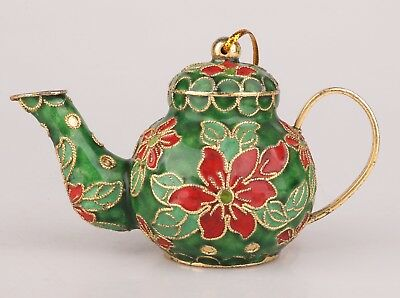 Cloisonne Enamel Teapot Old Hand-Carved Pig Mascot Christmas Decoration Gift