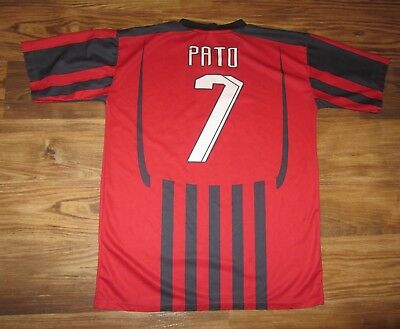 MENS RED STRIPED ADIDAS Climacool AC Milan OSORIO Soccer Jersey size ... 8ab7cd27c