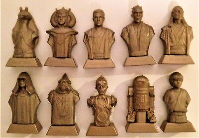 Star Wars Kellogg's 1999 UK Exclusive Episode I Complete Statue Cereal Statues