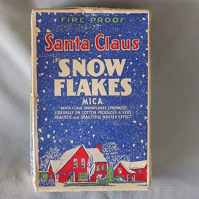 Vintage Mica Santa Claus Christmas Snow Flakes Unopened Box - St. Louis, MO