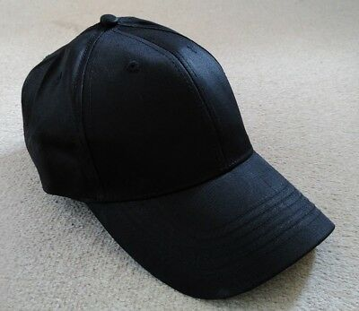 10x Adults Black Baseball Caps Hats Work Security Doorman Staff Uniform Stag Hen