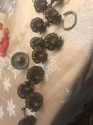 11 Vintage antique Brass Drawer Pulls Knobs