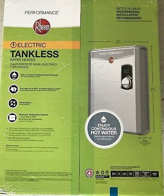 Rheem electric tankless water heater RETEX-18