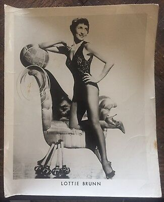 1950's Lottie Brunn Carnival/Circus Picture, Fastest Woman Juggler In The World