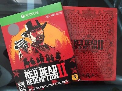 Red Dead Redemption 2 Steelbook Edition XBOX ONE 1 Brand New Sealed