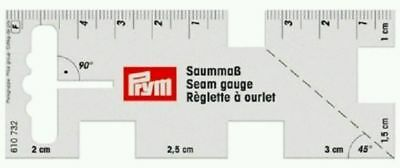 PRYM SEAM GAUGE - Size 4 x 10cm - FLEXIBLE RULER TO WORK WITH SEWING MACHINE