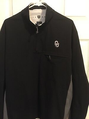 Nike Storm-Fit Oklahoma Sooners Size L Large Golf Football Black Pullover Jacket
