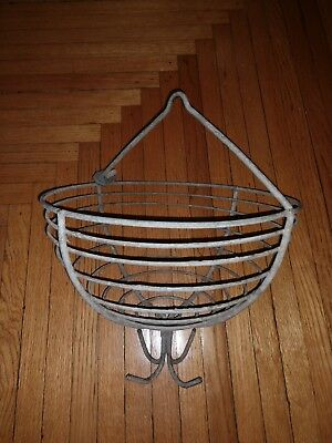 Vintage Coal Miner's Clothes Basket with 4 Hooks - Hangs from Ceiling