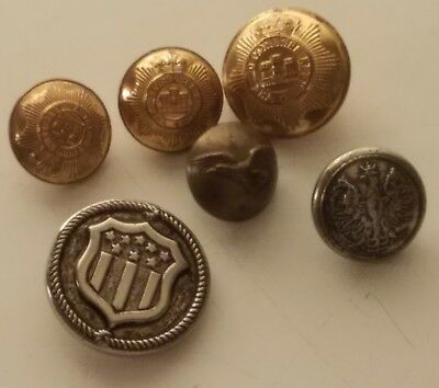BUTTONS GROUPING  Polish Military Poland Devonshire Regiment pre-1958 EAGLE