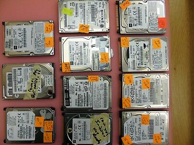 """Lot of 10 - Misc. 3.2GB to 80GB Laptop  2.5"""" 4200 5400 RPM IDE Hard Drive (Dead)"""