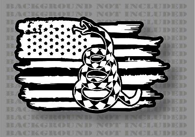 Gadsden Don/'t Tread On Me Rattlesnake 1776 2A We The American Flag sticker decal