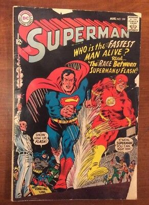 Superman 199 Flash VS Superman Race!!! Lower Grade Copy! Must HAVE and Cheap!!!