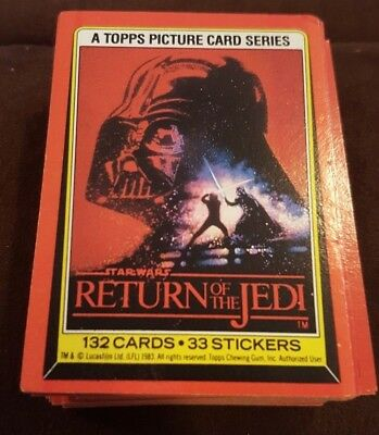Star Wars Empire Strikes Back 1983 Topps Series 2 Complete Set W/ Stickers NM-M