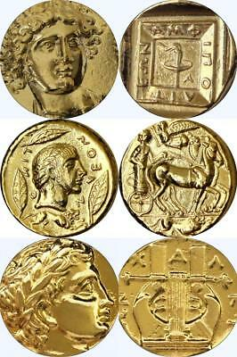 Apollo Son of Zeus 3 Famous Greek Coins Percy Jackson Fans, Mythology (3APOL-G)