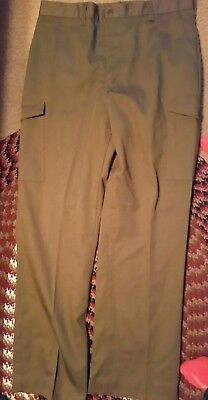 Boy Scouts of America BSA Boy Scout Green Uniform Pants size 36 waist