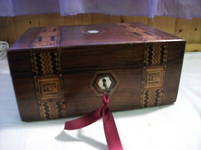 Antique inlay banded box