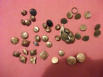Collection of uniform buttons