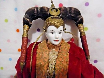 Star Wars Episode 1 Queen Amidala Red Senate Gown, Action Figure,CollectibleToys