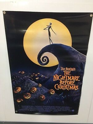 Vintage Original THE NIGHTMARE BEFORE CHRISTMAS Rolled Double Sided DS Poster