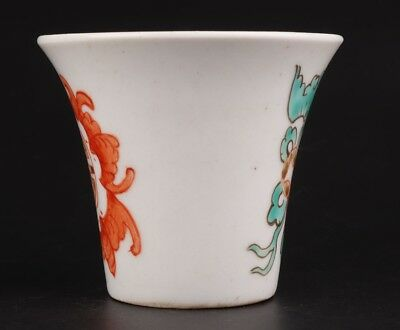 Rare Chinese Porcelain Tea Bowl Cups Hand-Painted Fish Mascot Home Decoration