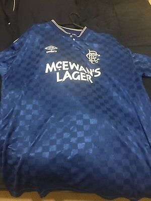 Glasgow Rangers Scoredraw Retro Home Top 1988