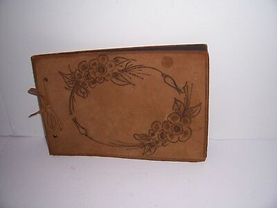 Vintage Antique Leather Scrapbook South Harpswell Maine Never Used