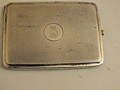 Antique Art Deco Solid Silver Cigarette Case - Deakin & Francis - Anderson Clan