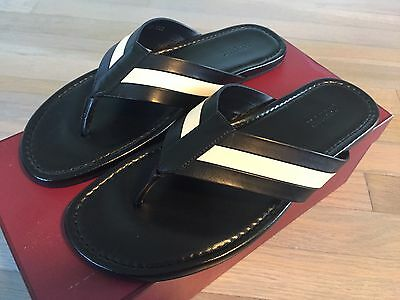 4fef739a5d6a 500  BALLY VENZIO Black Leather Sandals size US 12.5 Made in Italy ...