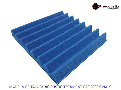 Genuine Pro-coustix Ultraflex Electric Blue Wedge Acoustic foam tiles x24 pack