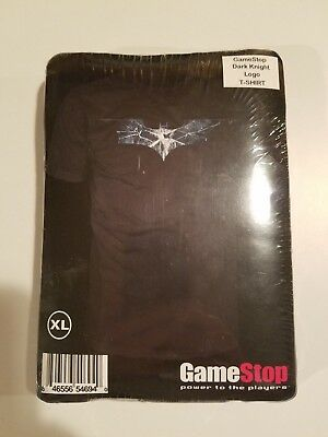 Batman The Dark Knight logo black shirt Rare Collectible GameStop Extra Large XL