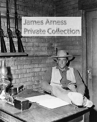 "James Arness Private Collection Gunsmoke ""Behind the Desk""  Candid  8 x 10"