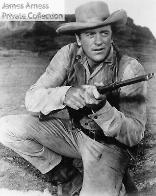 """James Arness Private Collection Gunsmoke """"Kneeling With Rifle""""  8 x 10  Photo"""