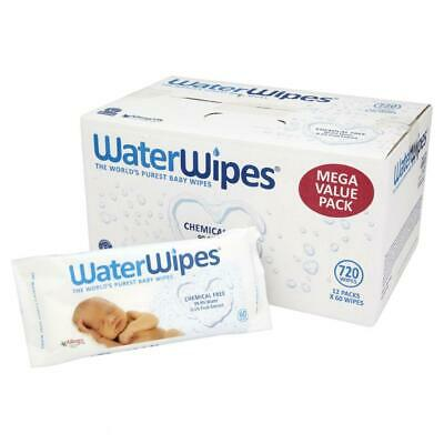 WaterWipes Chemical Free Baby Wipes 12 Pack x 60 Wipes High Quality (720 Wipes)