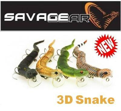 "Savage Gear 3D Snake 8"" WS-200 (Multiple colors)"