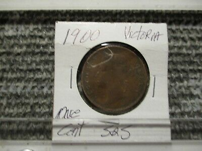 1900 Victoria One Cent Straights and Settlements