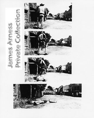 "James Arness Private Collection Gunsmoke ""Opening Scene Prank""   8 x 10  B/W"