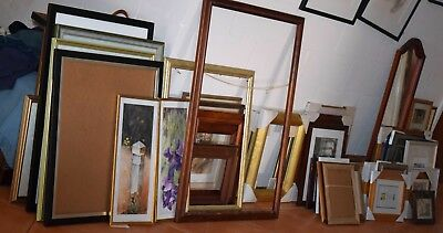 Frames must go. Around 50 pieces. Second hand, many never used.