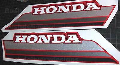 1985 85' honda ATC 250ES Big Red ATV 2pc Gas Tank Decals Stickers 250 es