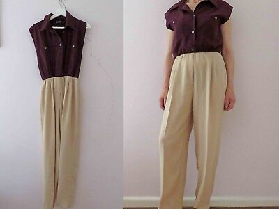 Her Pony Ivory Burgandy Jumpsuit Summer Sm Buy 3 + items for FREE Post