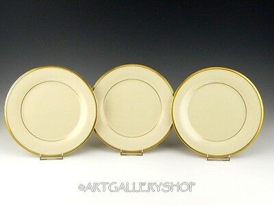 """Lenox Dimension Collection ETERNAL IVORY & GOLD 8"""" SALAD or LUNCH PLATES Set 3"""