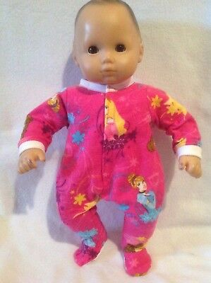 """15"""" Bitty Baby Disney Princess sleeper pajamas twins girl Doll Clothes outfit"""