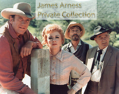 James Arness Private Collection Gunsmoke Cast 8 x 10 Color Photo