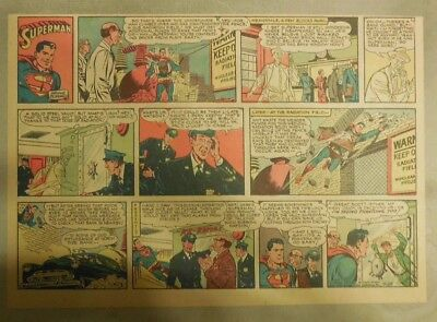 Superman Sunday Page #769 by Wayne Boring from 7/25/1954 Half Page Size Rare