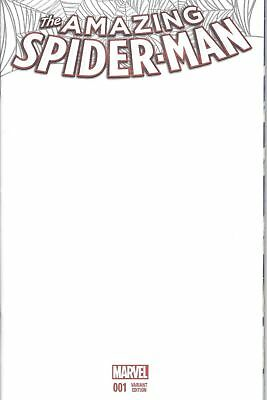 Amazing Spider-Man 1 Blank Variant Sketch Cover From Marvel Comics NM Spiderman