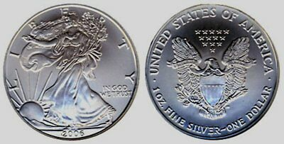 2006 Roll (20) Silver American Eagles - 1 Troy Ounce Each ***FREE SHIPPING***