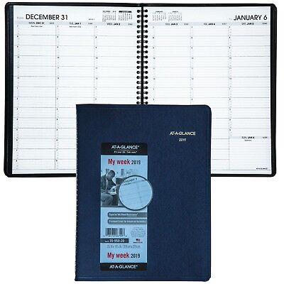 "2019 At-A-Glance 70-950-20 Weekly Appointment Book 8-1/4 x 10-7/8"", Navy Cover"