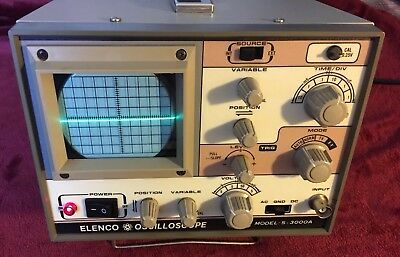 ELENCO OSCILLOSCOPE MODEL: S-3000A *Excellent Condition* See Photos!😎Works!!!